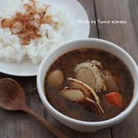 具がごろっと大きいスープカレー - ふみえ食堂  - a table to be full of happiness -
