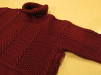 """TheThreeRobbers MERINO WOOL KNIT TURTLE NECK WINE""ってこんなこと。 - THE THREE ROBBERS ってこんなこと。"