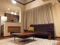 カリモク家具の納品実例 〜ソファUU49(ボタニカル・ネイビー)〜 - CLIA クリア家具合同会社
