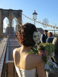 波巻きウェーブルーズアップの花嫁さん - NYの小さな灯り ~ヘアメイク日記~