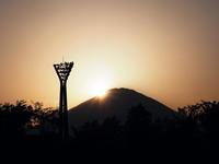 東名足柄SA(下り)でダイアモンド富士! - のんびりまったり写真館