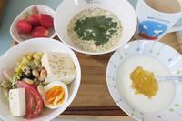 <朝食>フルグラ<昼食>天丼・焼きさば寿司<夕食>豚肉の味噌漬け焼き - さとごころ