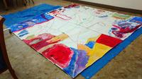2017年4月初回幼児さん「線と色」☆小学生「にじみ絵」行いました! - 絵画教室アトリえをかく