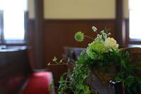 初夏の挙式装花 安藤記念教会様へ - 一会 ウエディングの花