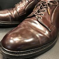 ヴィンテージシューズのコードヴァン。簡単お手入れ - シューケアマイスター靴磨き工房 三越日本橋本店