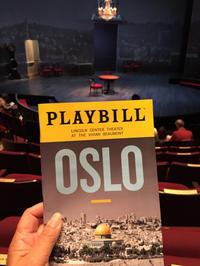NYC 3日目 ソワレ Oslo(オスロ) @ Lincoln Center(2016年度最優秀プレイ作品ノミネーション) - インターミッション~ 幕間のおしゃべり~