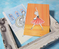 バレエイラストステッカーでノートをカスタマイズ♪ - 絵を描くきもち-イツコルベイユ