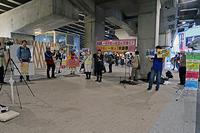 戦争法と一体の共謀罪反対新宿西口意思表示 - ムキンポの exblog.jp