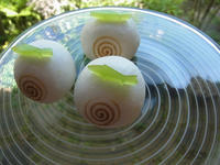 薯蕷饅頭「波に魚」なみにうお - 和のお菓子作り