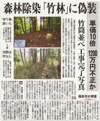 森林除染「竹林」に偽装竹筒並べ工事完了写真1200万円不正か/東京新聞 - 瀬戸の風