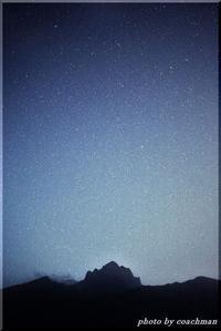 定山渓天狗岳と星空 - 北海道photo一撮り旅