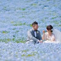 空とネモフィラの青~H&Aロケーション前撮り - アーマ・テラス   ウエディングブログ