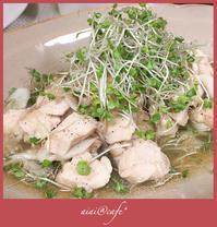 夏のお惣菜大集合!鶏胸肉と新玉ねぎのマリネサラダ - aiai @cafe