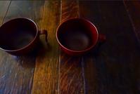 持ち手のついた汁椀 - 糸巻きパレットガーデン