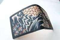 羽根尽くしのお財布1 - wakaba leather works