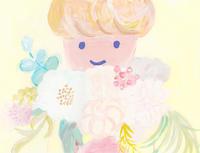 わたしと花束と - イラストレーション ノート