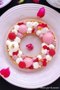 Wreath tarte Ispahan* - R-Sweetsな生活