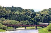 くま川鉄道(鉄橋)(2)。 - 青い海と空を追いかけて。