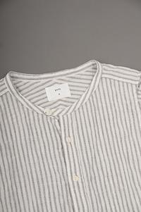 prit Stripe No Sleeve Band Collar Shirt - un.regard.moderne