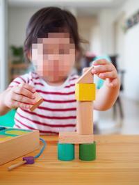 《2歳6ヶ月》娘がつくったもの。積み木編 - ゆりぽんフォト記
