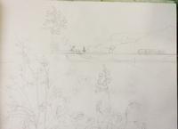 なにやら、花札っぽい絵描いてます。 - ポッと出っスけど杉山ひとみ/水彩画ブログ