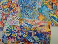 最近描いた絵4点『今年中には40点ぐらいは描こうかな』 - シュールな絵画の抽象画の油絵奮闘記