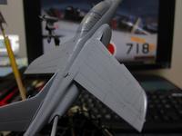 ハセガワ 1/72 川崎T-4 製作中 (14) - DNF