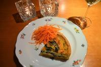 ほうれん草のキッシュ/キャロットラぺ/カチョカバロのオーブン焼き/GSIX@銀座 - まほろば日記