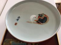 色絵  達磨文  大皿 - 大正から昭和の器