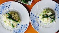 アスパラガスとペコリーノのリゾット - ロンドンの食卓
