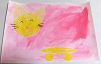 前回行った「花と葉2」の様子です☆フロッタージュ(こすりだし) - 絵画教室アトリえをかく