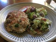 豆腐ハンバーグとブロッコリーのサラダ - ちょっと田舎暮しCalifornia