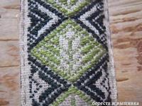 型刺し昆布 - береста и вышивка 白樺細工と刺繍