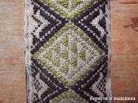 型刺し蕎麦殻菱 - береста и вышивка 白樺細工と刺繍