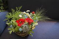 父の日のアレンジメント南天 - 北赤羽花屋ソレイユの日々の花