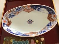 色絵  菊唐草いろいろ文 変形皿 - 大正から昭和の器