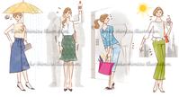 ファンケル肌着の会報誌「F BODY」女性イラスト - 女性誌を中心に活動するイラストレーター ★★清水利江子の仕事ブログ
