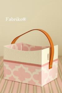 ガーリーテプラをもっと使いやすくする箱 - Fabrikoのカルトナージュ ~神戸のアトリエ~