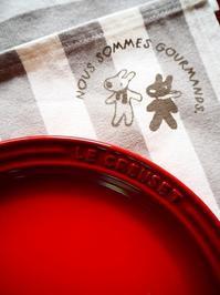 赤いお皿 - Kitchen diary