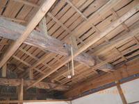 天井解体:勾配天井 - 古民家再生中!みずほフォーラム:不動産情報をお届けします。