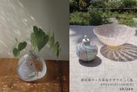 津坂陽介・久保裕子ガラス二人展のご案内 - うつわshizenブログ