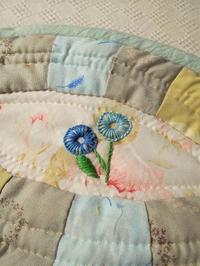 お花の刺繍付ポーチバック - eri-quilt日記2