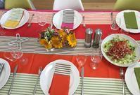 【バスクのテーブルクロスでおもてなしを受けました】 - Plaisir de Recevoir フランス流 しまつで温かい暮らし