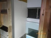 風呂扉位置決め壁貼り:パネル貼り - 古民家再生中!みずほフォーラム:不動産情報をお届けします。