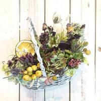 6月の1dayレッスン③ - driedflower arrangement ✦︎ botanical accessory ✦︎ yukonanai ✦︎