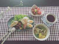 黄ズッキーニとリーフレタスで味噌スープ。 - 気分屋 ぷりんせす