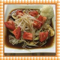 レンチン5分で作れる、茄子・豚肉・もやしの簡単プレート(レシピ付) - kajuの■今日のお料理・簡単レシピ■