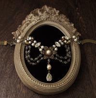 クラシカルカボションビジューチョーカー - Labra ~stones and beads~