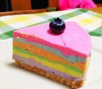 レインボーチーズケーキ('ω') - ほっこりしましょ。。