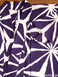 新柄浴衣『麻の葉(紫)」ご紹介☆★ - 豆千代モダン Blog